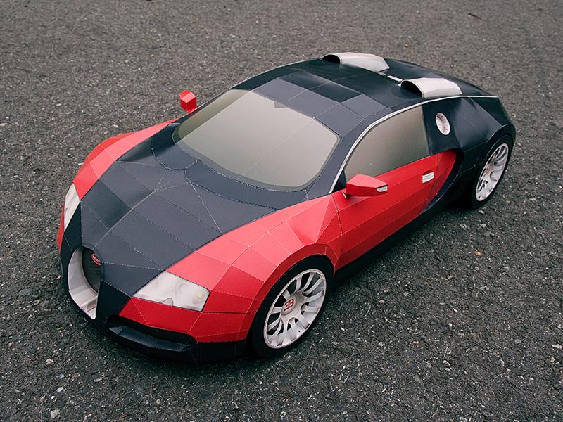 haz tu propio bugatti veyron de papel