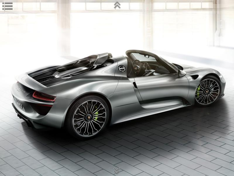 exclusiva porsche 918 spyder fotos y especificaciones. Black Bedroom Furniture Sets. Home Design Ideas