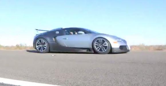 Bugatti Veyron a mas de 360 km/h en carreteras Mexicanas