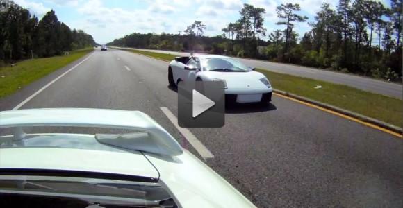 Lamborghini Murciélago vs Nissan GTR quebrando las leyes en carreteras Mexicanas