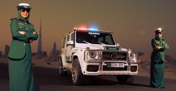 La más reciente patrulla de la policía de Dubai es una G63 AMG Brabus