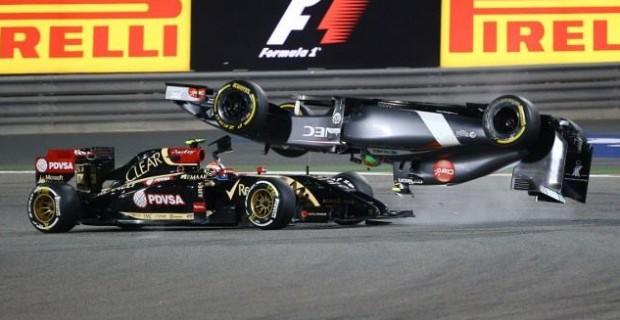 Maldonado Gutierrez Bahrain 2014 Crash