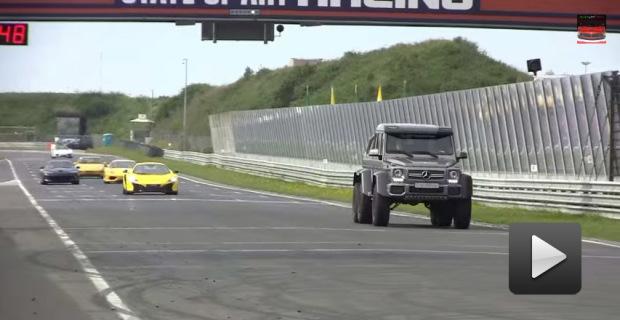 Mercedes-Benz G63 AMG 6×6 aterroriza a todos los autos de una pista