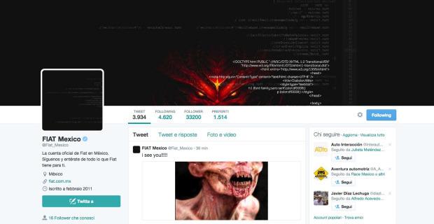 Hackean la cuenta de Fiat México en Twitter